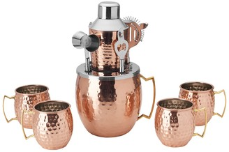 Mikasa Copper Hammered Moscow Mule 10-Piece Bar Set