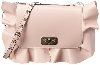 RED Valentino Rock Ruffle Leather Shoulder Bag