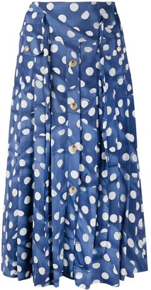 Boutique Moschino High-Waisted Polka Dot Midi Skirt
