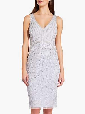 Adrianna Papell Sleeveless Beaded Mini Dress