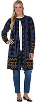 Denim & Co. As Is Studio by Tribal Jacquard Open Front Cardigan