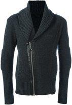 Les Hommes zip shawl cardigan - men - - L