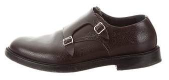 Calvin Klein Leather Monk Strap Loafers