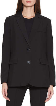 Walter Baker Andi Button-Front Pocketed Blazer