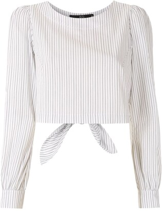 Eva Stripped Puff Sleeves Blouse