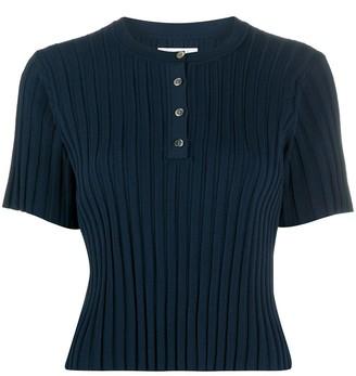 Deveaux Ribbed-Knit Top