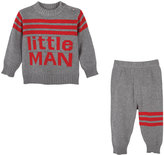 Andy & Evan Little Man Knit Sweater w/ Matching Pants, Size 3-24 Months