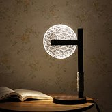 3D Desk Lamp Dimmable Stereoscopic Desktop Lamp LED Decorative Night Light (Style I)
