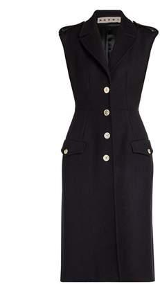 Marni Brushed Wool Sleeveless Gilet Dress