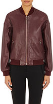 Surface to Air WOMEN'S CALFSKIN BOMBER JACKET-BURGUNDY SIZE 36 IT