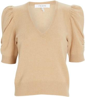 Frame Frankie Puff Sleeve Cashmere Sweater
