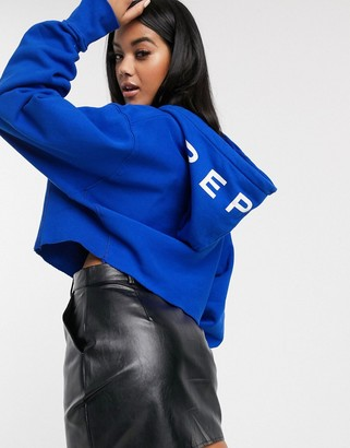 Replay cropped oversized sweater-Blue