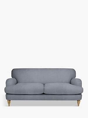 John Lewis & Partners Harrogate High Back Large 3 Seater Sofa, Light Leg, Erin Grey