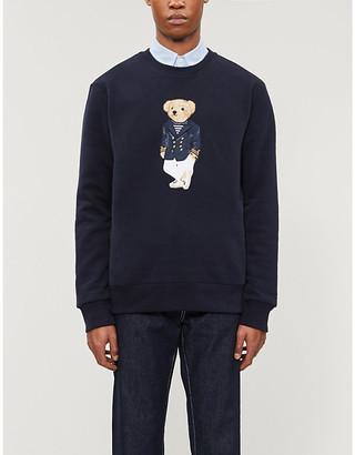 Ralph Lauren Purple Label Bear-applique cotton-blend jumper