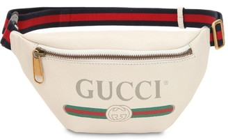 Gucci Small Print Leather Belt Bag