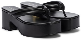 Dries Van Noten Platform leather thong sandals
