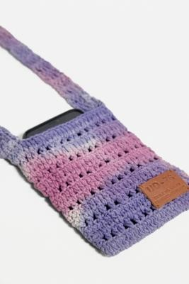 Urban Outfitters Tie-Dye Macrame Pouch - Green ALL at