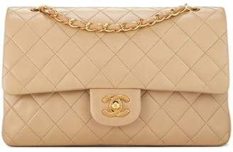 Chanel Tan Quilted Lambskin Classic Double Flap Medium
