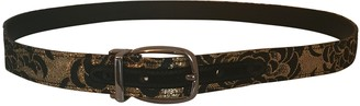 Dolce & Gabbana Gold Leather Belts