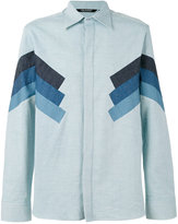 Neil Barrett contrast panelled shirt