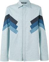 Neil Barrett panelled shirt - men - Cotton - 42