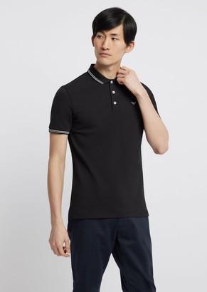 Emporio Armani Polo Shirt In Stretch Cotton