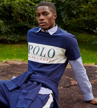 Polo Ralph Lauren x ASOS exclusive collab sweatpants in navy with side stripe and pony logo