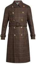 Gucci Double-breasted tartan trench coat