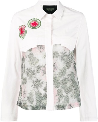 Mr & Mrs Italy Embroidered Patch Print Shirt