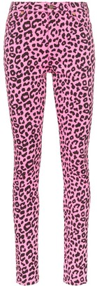 Gucci Leopard Print High-Waisted Skinny Jeans