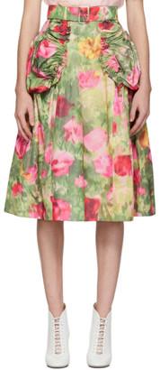 Simone Rocha Multicolor Smocked Skirt
