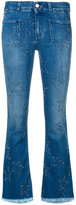 Stella McCartney star patch kick flare jeans
