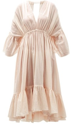 Loup Charmant Sunrise Open-back Organic-cotton Dress - Pink
