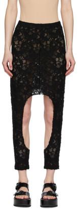 Comme des Garcons Black Lace Skirt