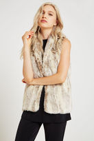BCBGeneration Shawl Collar Faux-Fur Vest - Tan