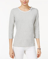 Tommy Hilfiger Bow-Neck Top, Only at Macy's