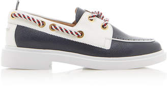 Thom Browne Textured Leather Boat Shoes Size: 7