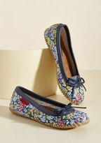 ModCloth Back in a Splash Rain Shoe in Botanical Blue in 9