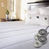 Sunbeam Quilted Polyester Heated Mattress Pad with EasySet Pro Controller, King