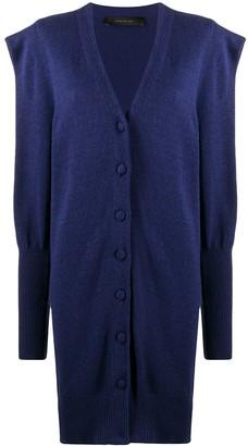 FEDERICA TOSI Gigot-Sleeved Longline Cardigan