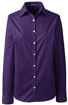 Classic Women's Regular Long Sleeve Broadcloth Shirt-Deep Sea/Electric Blue