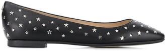 Jimmy Choo Star-Stud Ballerina Shoes