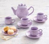 Pottery Barn Kids Kitty Ceramic Tea Set - Lavender