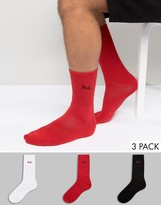 Pringle Crew Socks 3 Pack Red