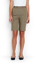 "Lands' End Women's Petite 7 Day 10"" Bermuda Shorts-White"