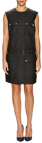 Love Moschino Belted Flap Pockets Shift Dress