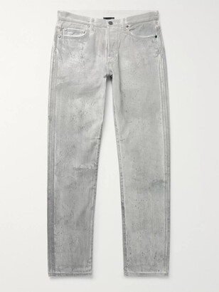 John Elliott The Daze Skinny-Fit Paint-Splattered Denim Jeans