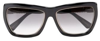 Lanvin Black Sunglasses with Swarovski Crystals