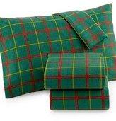 Martha Stewart Cotton Flannel Sheet Set Green Tartan Plaid (Twin)