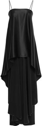 Talbot Runhof Layered Crepe-satin Maxi Dress